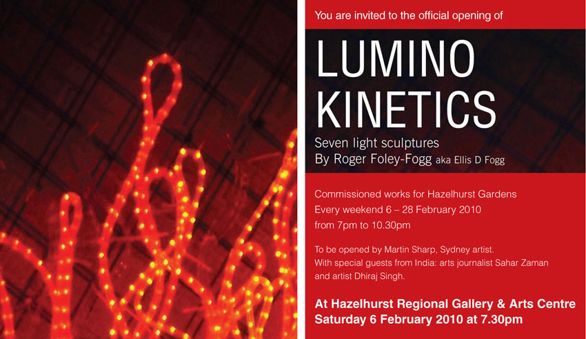 Lumino Kinetics Flyer, Roger Foley