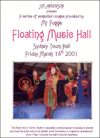 Mr Foggs Floating Music Hall, cabaret programme by Jim Anderson