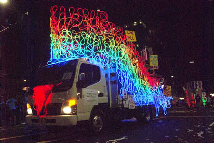 Rainbow float, Sydney Mardi Gras