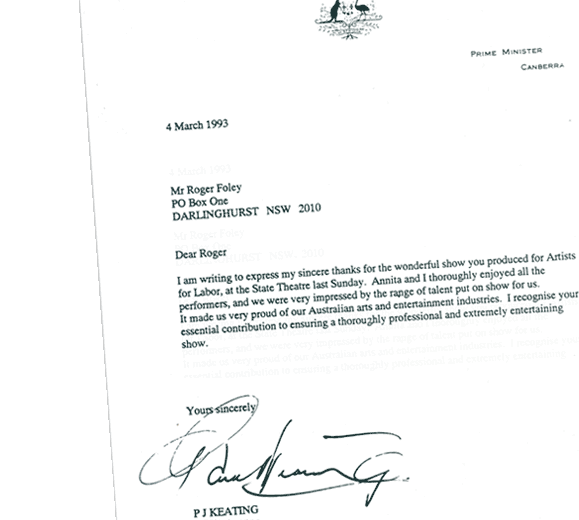 Keating letter to Roger Foley