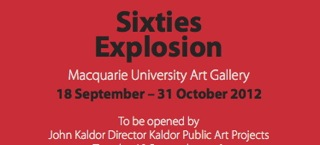 Sixties Explosion flyer